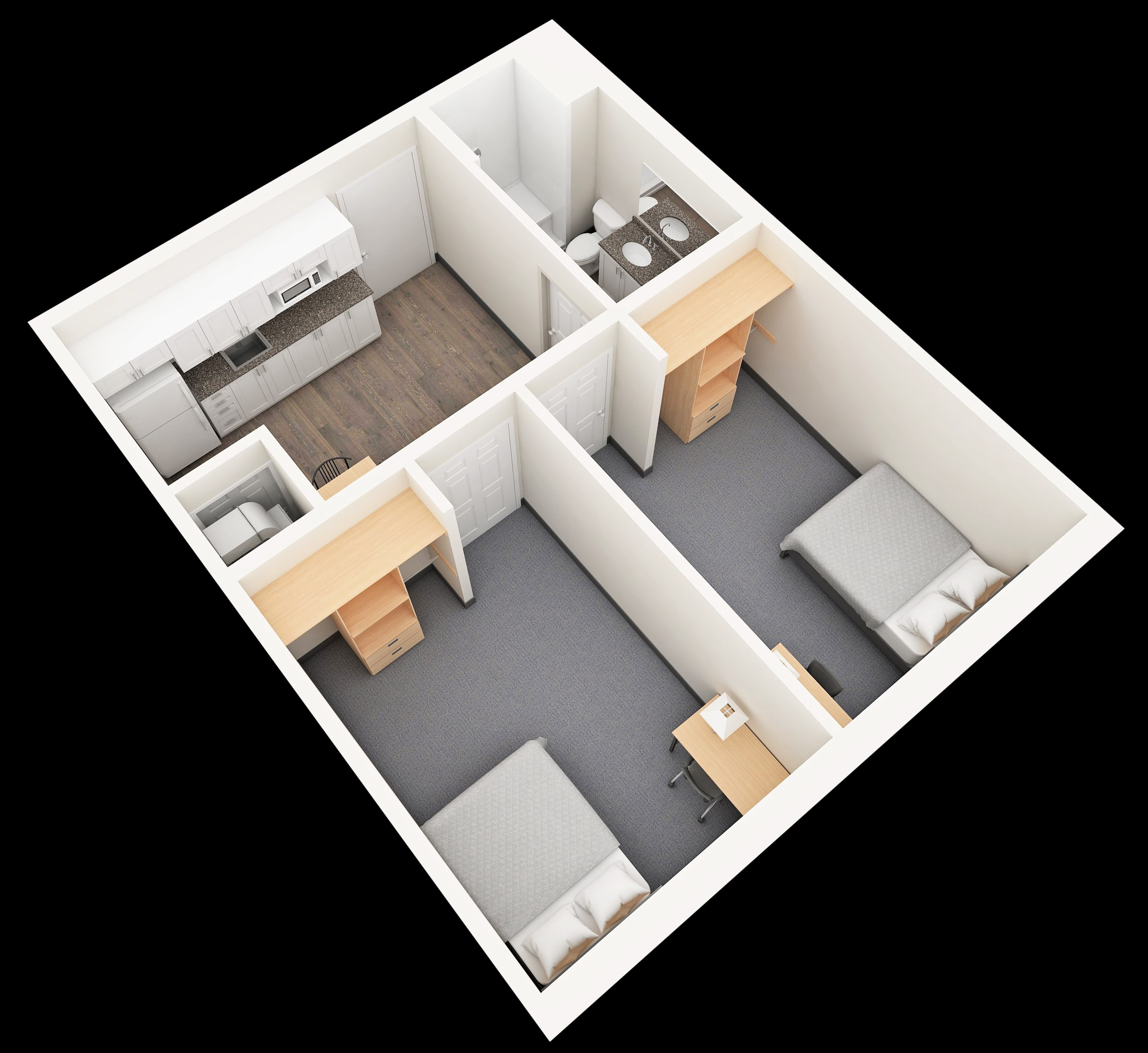 Whitby Residence_2 BR Suite_PRES_B