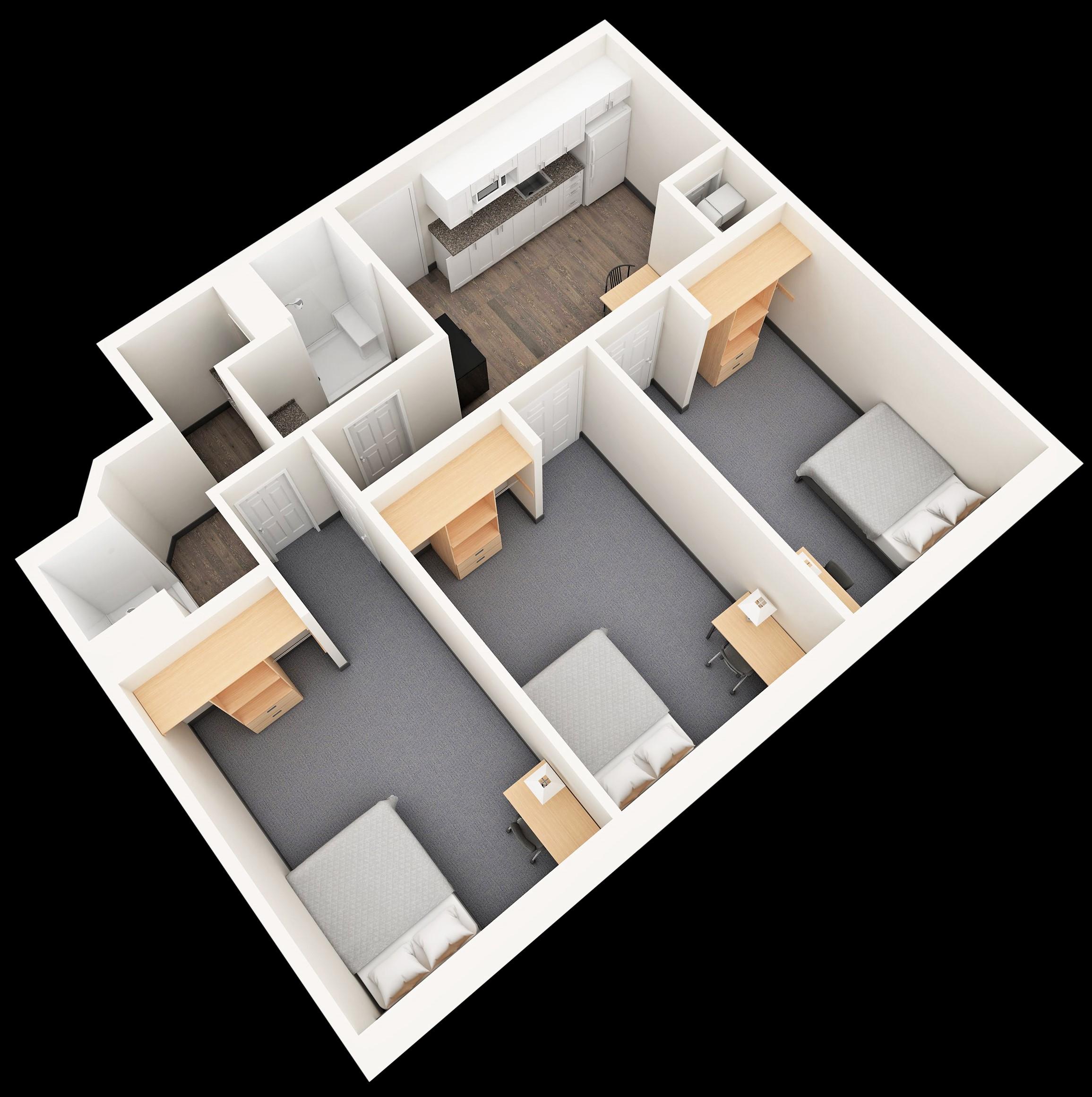 Two Bedroom Apartment Oshawa: Durham College Residence